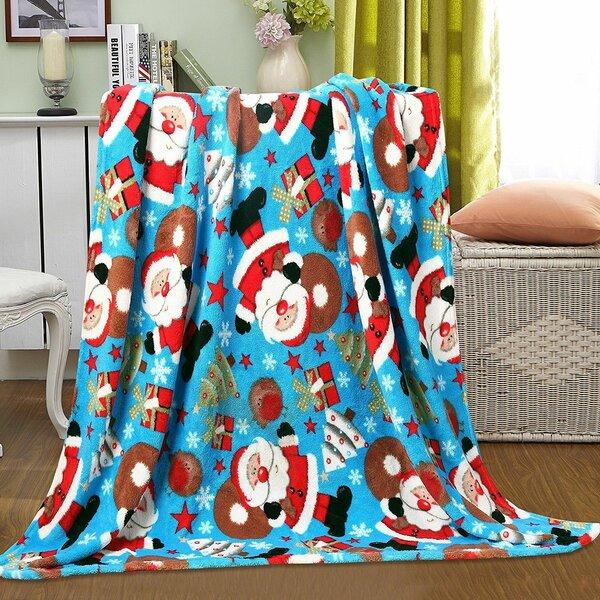 Adcock Christmas Santa Fleece Throw Blankets - Assorted Styles by The Holiday Aisle