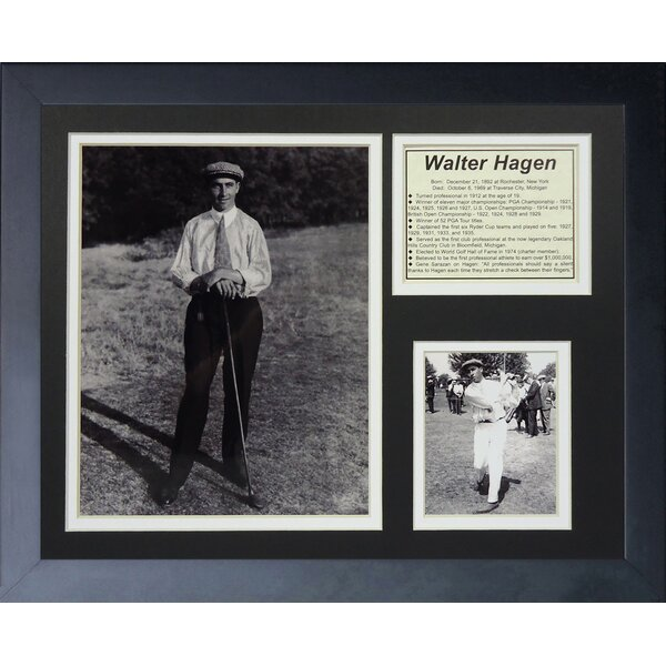 Walter Hagan Framed Photographic Print by Legends Never Die