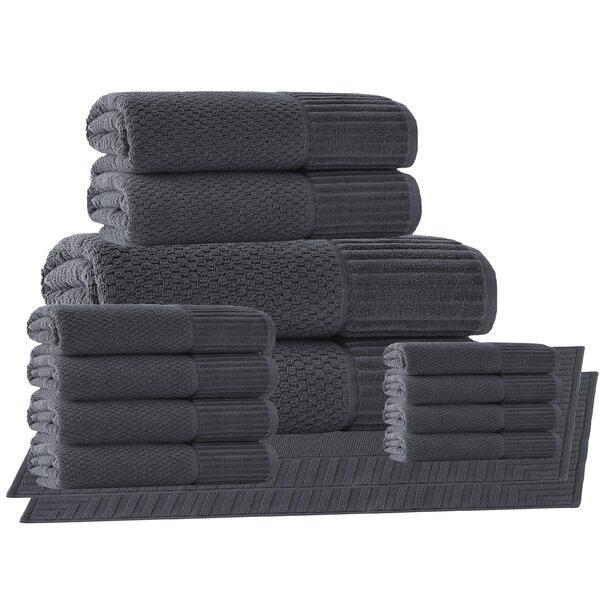 Belcourt 14 Piece Turkish Cotton Towel Set by Wade Logan