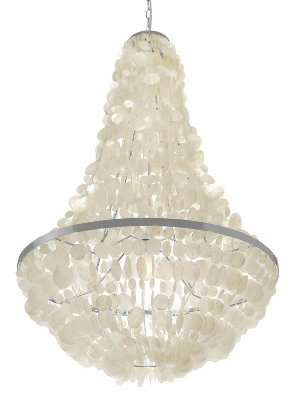 Manor capiz seashell 3 light empire chandelier reviews allmodern manor capiz seashell 3 light empire chandelier aloadofball
