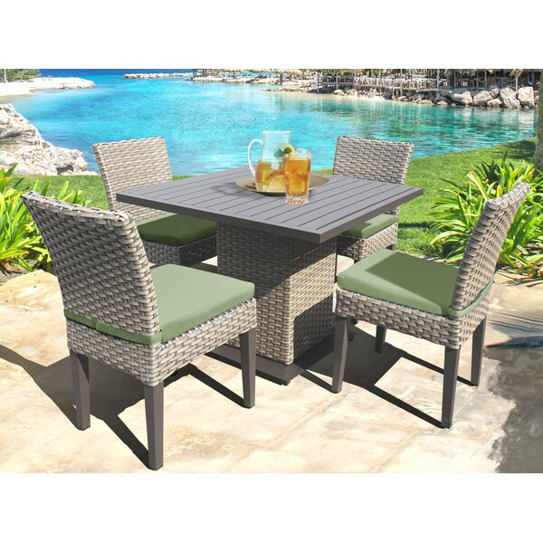 Oasis 5 Piece Dining Set with Cushions by TK Classics
