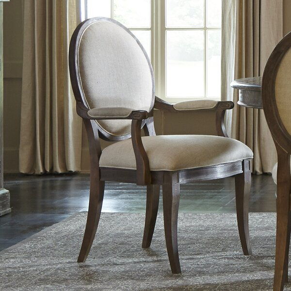 Pond Brook Upholstered Dining Arm Chair (Set of 2) by Darby Home Co