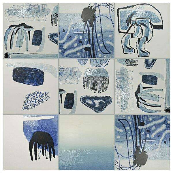 Antilia 7.88 x 7.88 Ceramic Field Tile in Blue by EliteTile