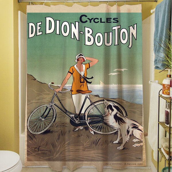 Cycles De Doin Bouton Shower Curtain by Manual Woodworkers & Weavers