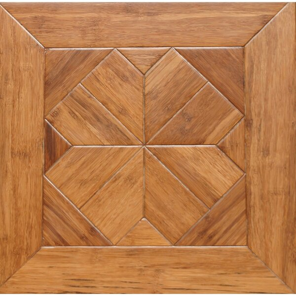 Venetian Parquet Engineered 15.75 x 15.75 Bamboo Wood Tile by Islander Flooring