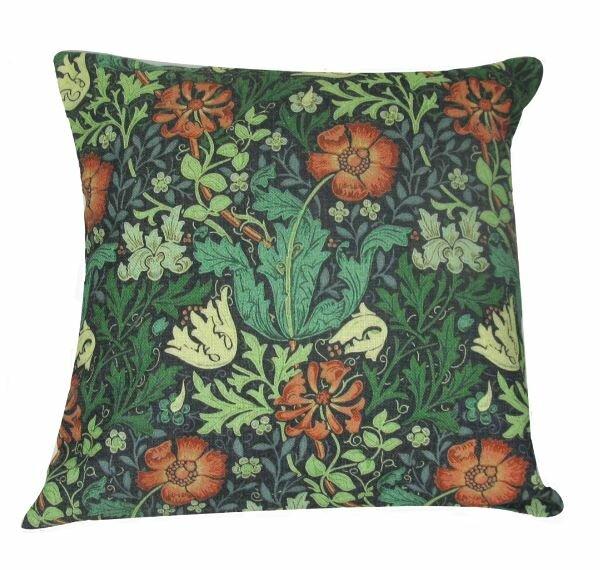 William Morris Throw Pillow by Golden Hill Studio