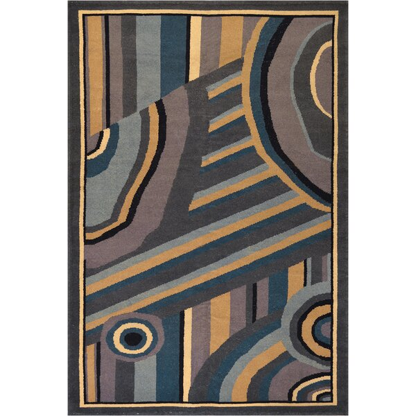 One-of-a-Kind Vintage Deco Handwoven Wool Orange/Brown Indoor Area Rug by Mansour