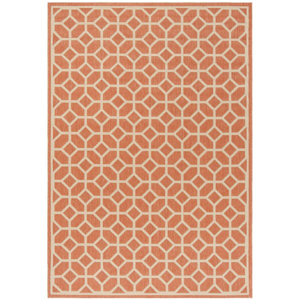 Shea Rust/Cream Area Rug by Brayden Studio
