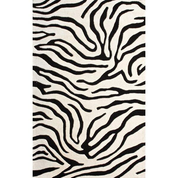 Moderna Hand-Tufted Wool Black Area Rug by nuLOOM