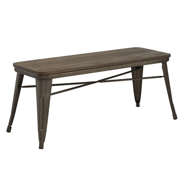 Lecia Metal Bench by Gracie Oaks