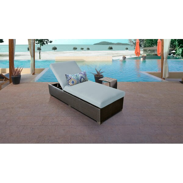 Medley Chaise Lounge with Cushion and Table by Rosecliff Heights