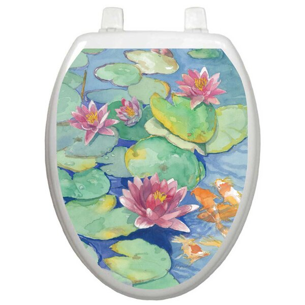 Themes Lily Pad Toilet Seat Decal by Toilet Tattoos