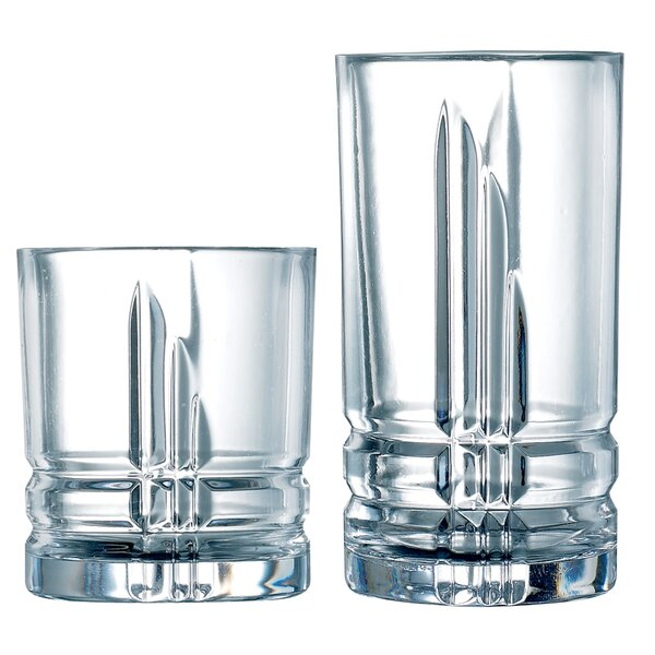 Subedi Tumbler 16 Piece Glass Assorted Glassware Set by Orren Ellis