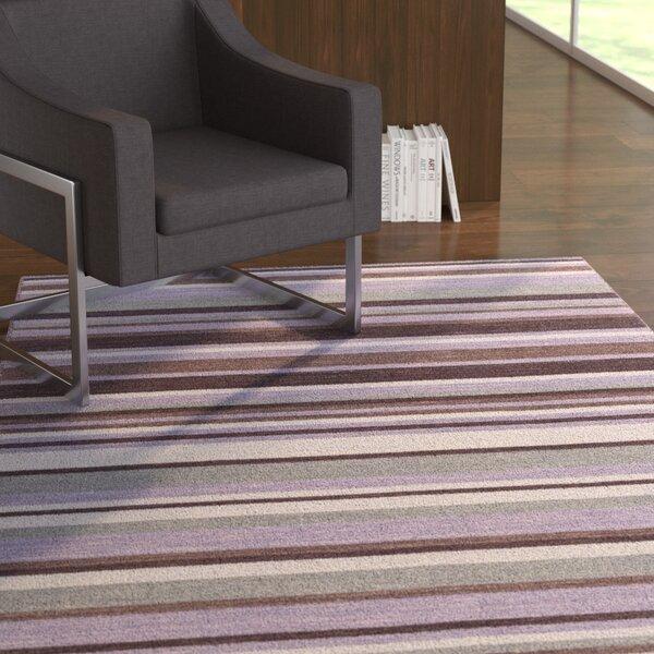 Dixon Hand-Woven Bright Purple Area Rug by Ebern Designs