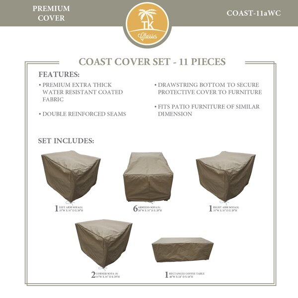 Coast Protective 11 Piece Water Resistant Patio Furniture Cover Set by TK Classics