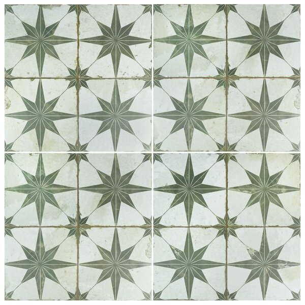 Royalty Galactic 17.63 x 17.63 Ceramic Field Tile in Sage by EliteTile