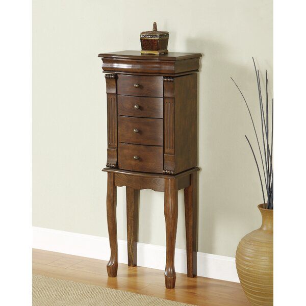 Barrett Jewelry Armoire with Mirror by Alcott Hill