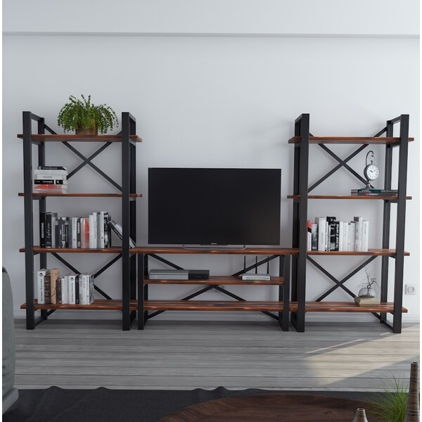 Argueta Modern Rustic Iron Entertainment Center by Foundry Select