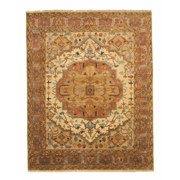 One-of-a-Kind Kipp Hand-Knotted Wool Beige Area Rug by Bloomsbury Market