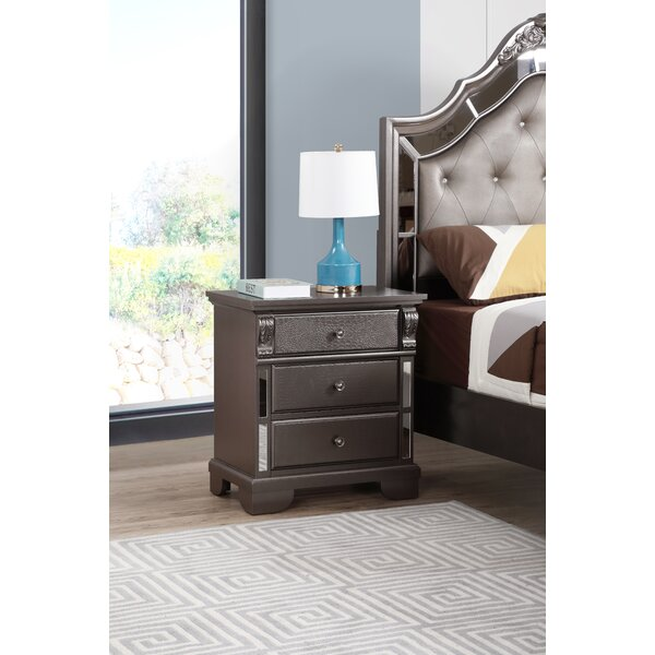 Noonan 3 Drawer Nightstand by House of Hampton