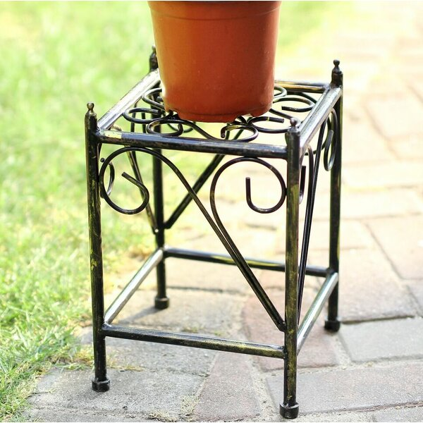 Lattice Square Small Cast-Iron Plant Stand by ORE Furniture