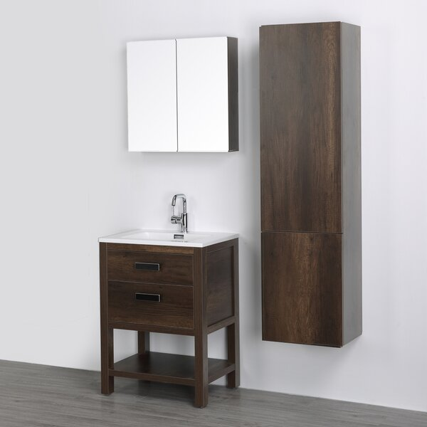 24 Single Bathroom Vanity Set with Mirror by Streamline Bath