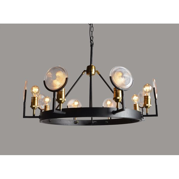 Henriqueta 8 - Light Candle Style Wagon Wheel Chandelier by 17 Stories 17 Stories