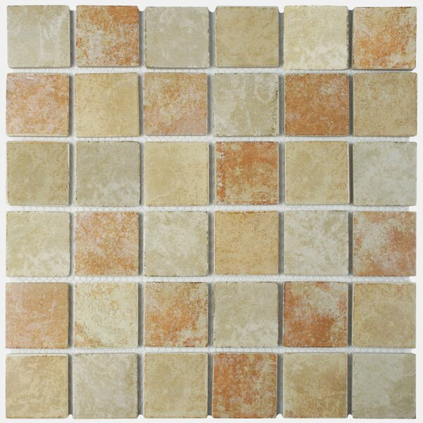 Elbert 2 x 2 Porcelain Mosaic Tile in Quad Brown/Gray by EliteTile