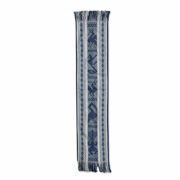 Bourque Bluebirds Cotton and Silk Table Runner by Bloomsbury Market