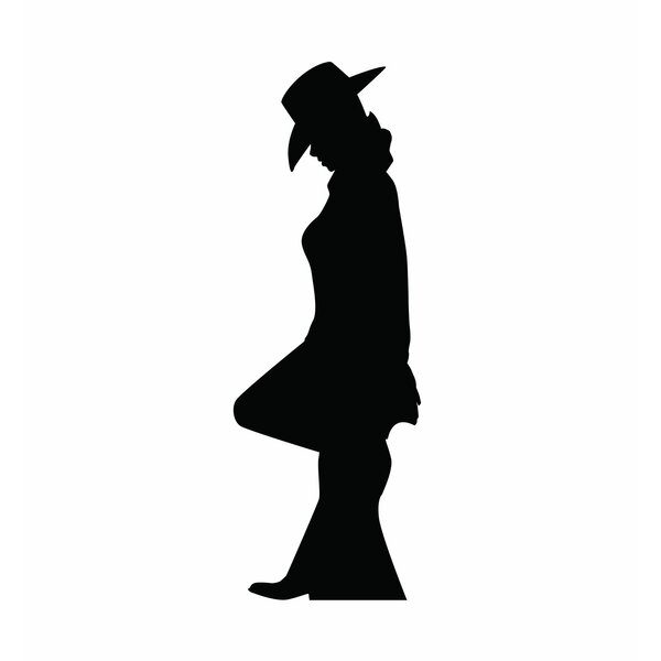 Cowgirl Leaning Silhouette Cardboard Stand-Up by Advanced Graphics