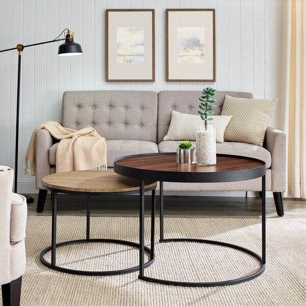 Union Rustic Wood Top Coffee Tables