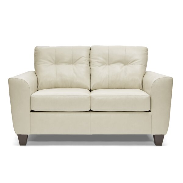 Madore Leather Loveseat by Wrought Studio