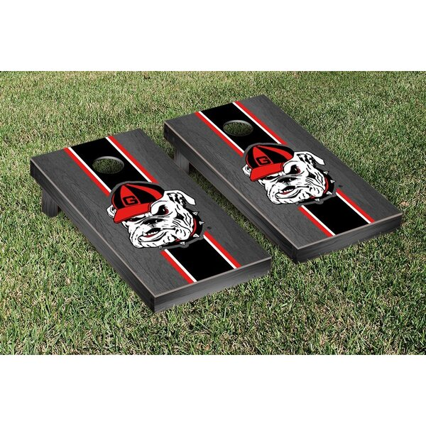 Georgia Bulldogs Stained Stripe Version 3 Cornhole Game Set by Victory Tailgate