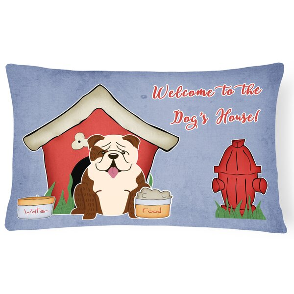 Wildlife Dog House Contemporary Solid Indoor/Outdoor Lumbar Pillow by East Urban Home