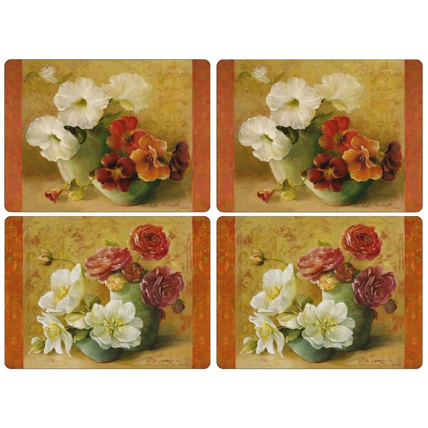 Floral Offering Placemat (Set of 4) by Pimpernel