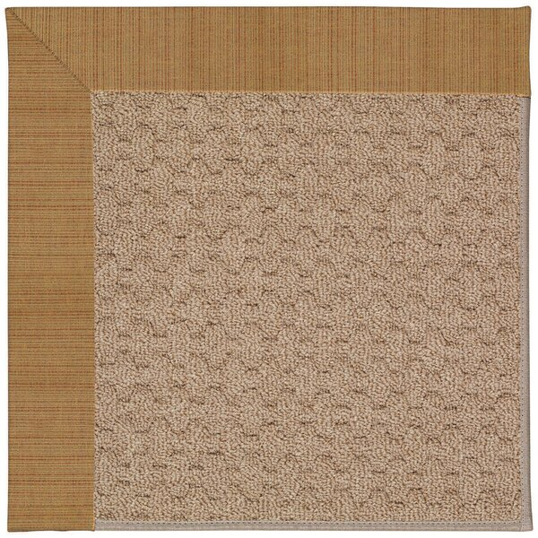 Lisle Machine Tufted Golden/Brown Indoor/Outdoor Area Rug by Longshore Tides
