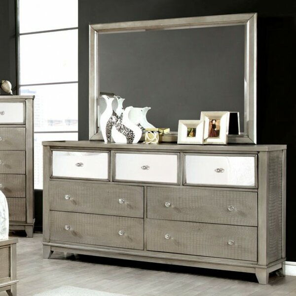 Kassidy 7 Drawer Dresser with Mirror by Everly Quinn