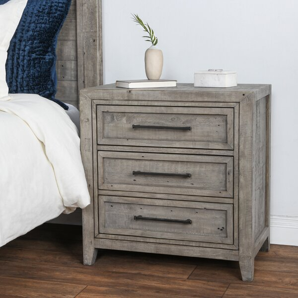 Kimberley Reclaimed Pine 3 Drawer Nightstand by Millwood Pines Millwood Pines