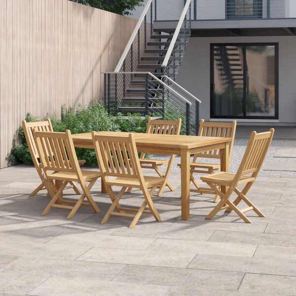 Anthony 7 Piece Teak Dining Set by Foundstone