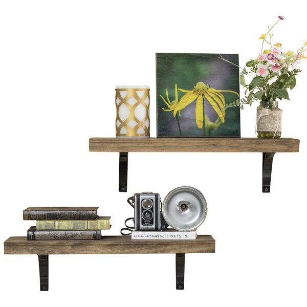 Heller Simple Bracket 2 Piece Wall Shelf Set by Gracie Oaks