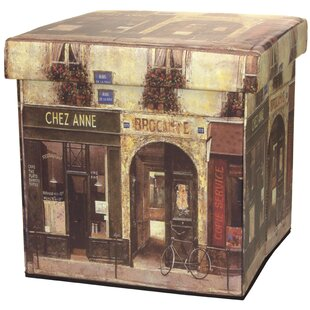 French Café Storage Ottoman