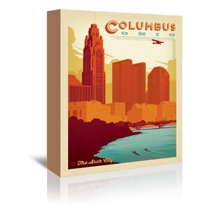 Columbus Ohio Vintage Advertisement on Wrapped Canvas by East Urban Home