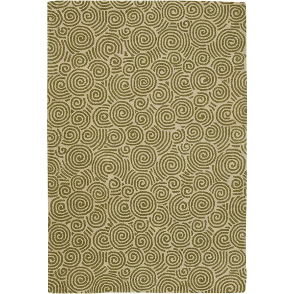 Burnestown Beige/Green Area Rug by Latitude Run