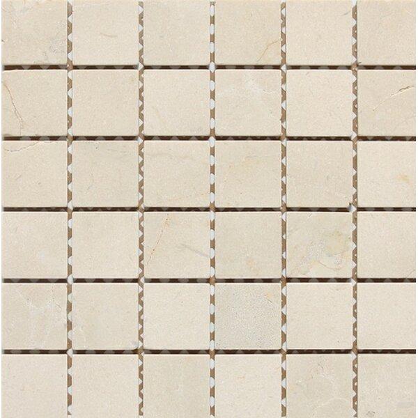 Tumbled 2 x 2 Mosaic Tile in Crema Nouva by Ephesus Stones