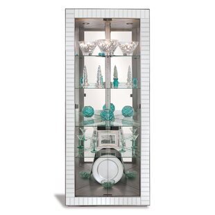 Halo Lighted Corner Curio Cabinet