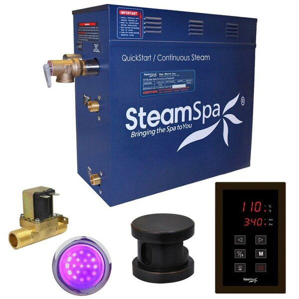 Indulgence 9 kW QuickStart Steam Bath Generator Package with Built-in Auto Drain by Steam Spa