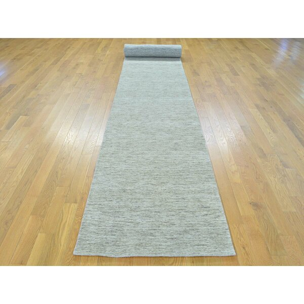 One-of-a-Kind Becker Handwoven Beige Wool Area Rug by Isabelline