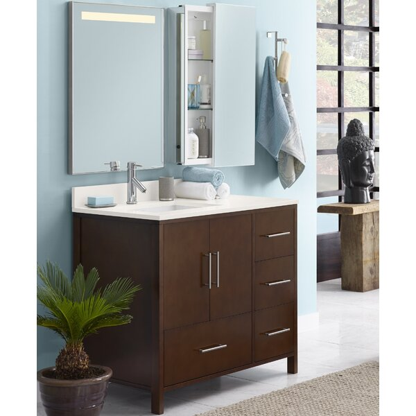 Juno 36 Single Bathroom Vanity Set with Mirror by Ronbow
