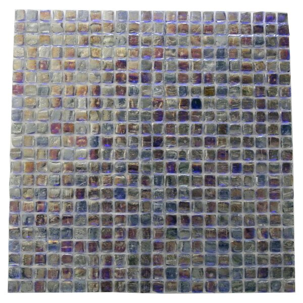 Ecologic 0.38 x 0.38 Glass Mosaic Tile in Purple/Blue by Abolos