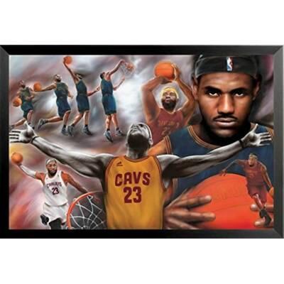 legends never die lebron james miami heat framed photo collage 11 x